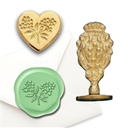 Heart shape Flower Brass Wax Stamp