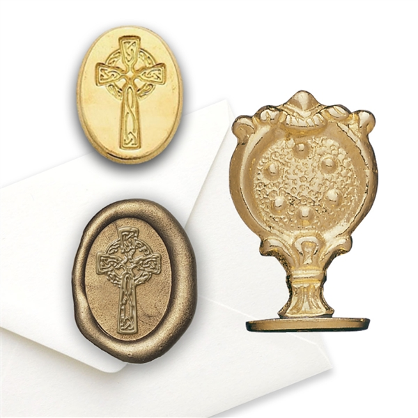 Celtic Cross Brass Wax Seal Stamp