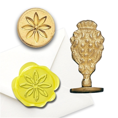 Daisy Brass Wax Stamp