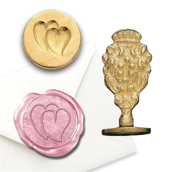Brass Twin Hearts Wax Stamp