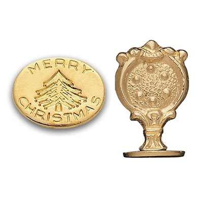 Wax Seal Merry Christmas -Brass Handle Stamp