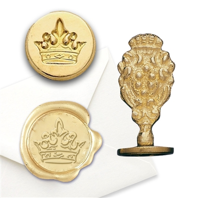 Crown Brass Wax Stamp