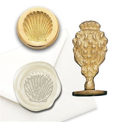 Shell Brass Wax Stamp