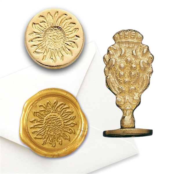 Sunflower Brass Wax Stamp