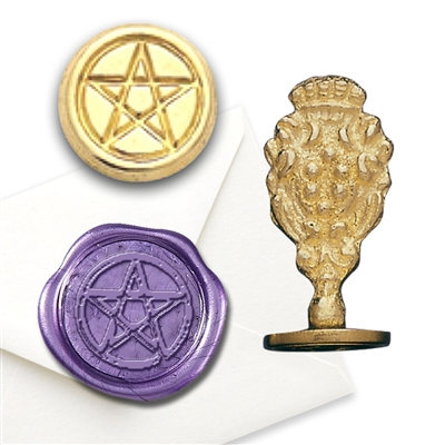 Pentacle Brass Wax Seal Stamp