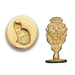 Cat Brass Wax Seal Stamp
