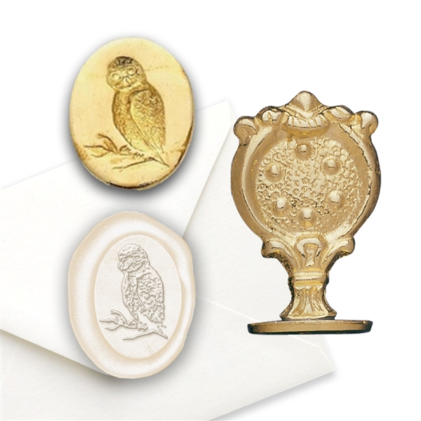 Owl Brass Wax Seal Stamp