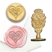 Heart Swirl Brass Wax Seal Stamp