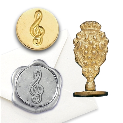Music Note Brass Wax Seal Stamp
