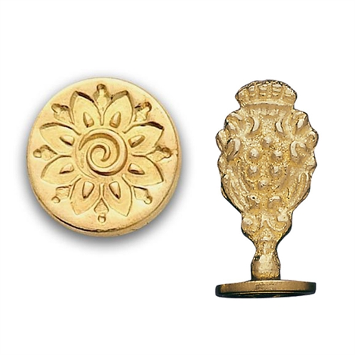 Mehndi Flower Brass Wax Seal Stamp