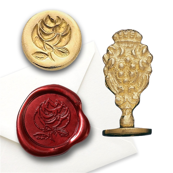 Rose Brass Wax Seal Stamp