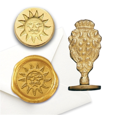 Sun Brass Wax Seal Stamps