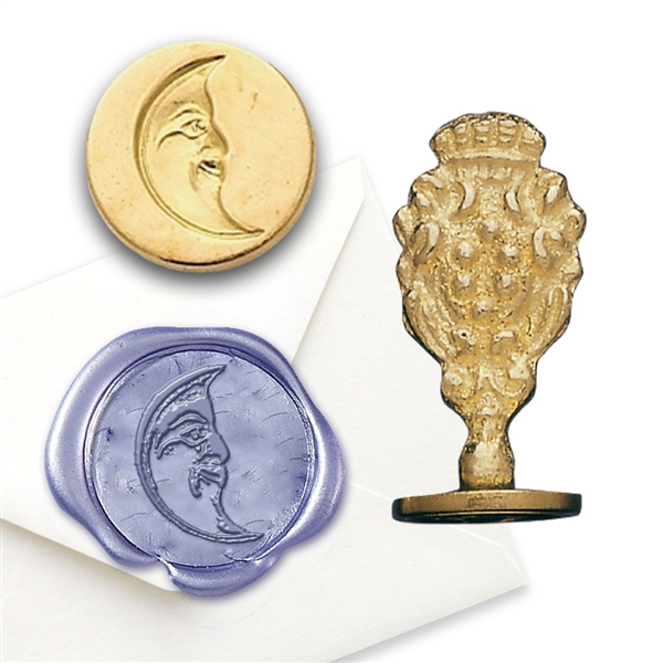 Moon Brass Wax Seal Stamp