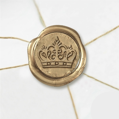 "Wax Seal Stickers-50 Stickers-50PK- 1""-Kings Crown"