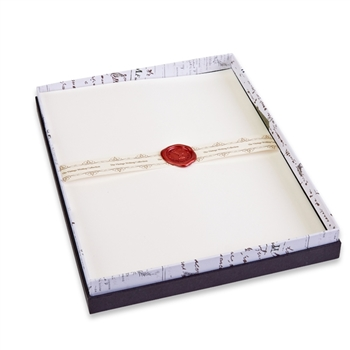 Brilliant White Classic Linen Stationery Set - 20/20