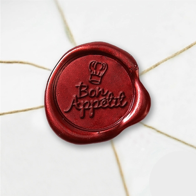 Bon Appetit Wax Seal Stickers-50 Stickers-50PK- 1""