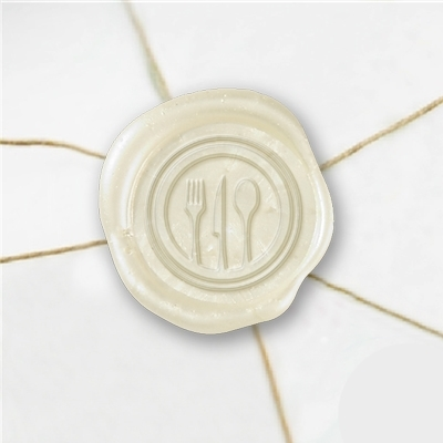 Utensils Wax Seal Stickers-50 Stickers-50PK- 1""