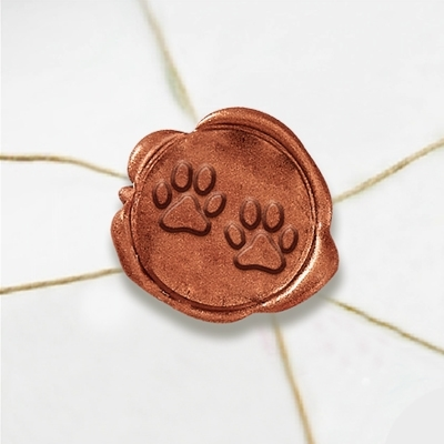 Dog Paw Wax Seal Stickers-50PK- 1""
