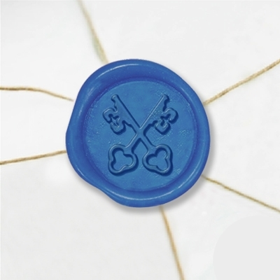"Wax Seal Stickers-50 Stickers-50PK- 1""-Crossed Keys"