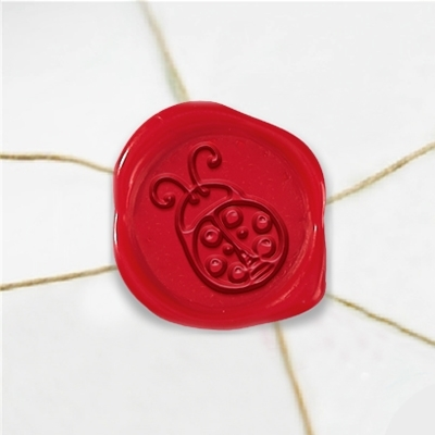 Lady Bug Wax Seal Stickers-50PK- 1""