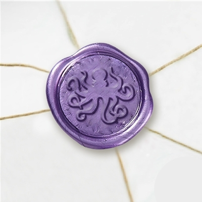 Octopus Wax Seal Stickers-50 Stickers-50PK- 1""