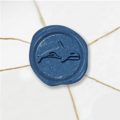 Orca Wax Seal Stickers-50 Stickers-50PK- 1""