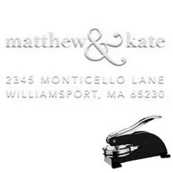 "Rectangular Name & Address Paper Embosser -1x2"" imprint"