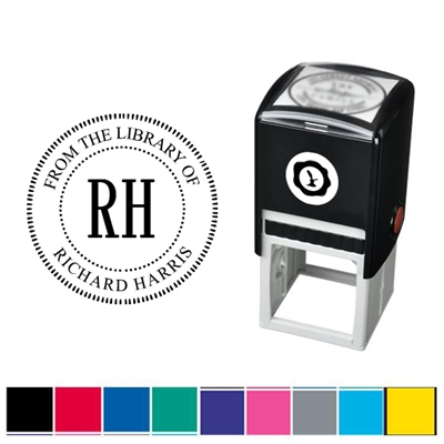 From the Library of Custom Self Inking Stamper with Black Ink Cartridge