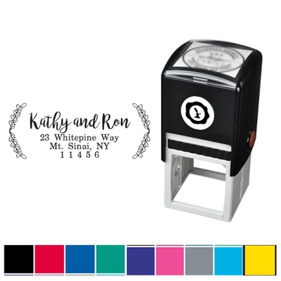 Laurel Names & Address Custom Self Inking Stamper with Black Ink Cartridge