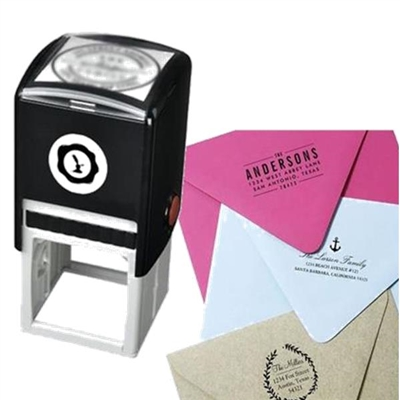 Custom Self Inking Stamp with your Artwork or Logo-Black Ink