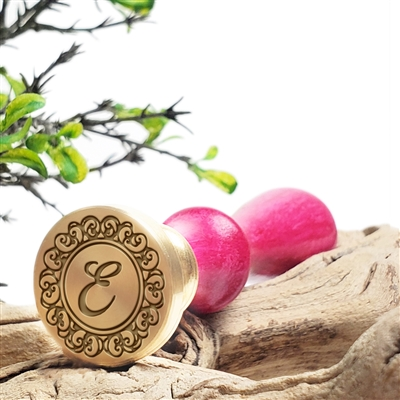 "Custom Initial Wax Seal Stamp - 1"" Die - Swirls"
