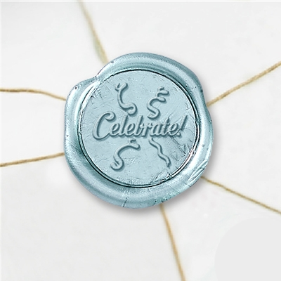 Celebrate Wax Seal Stickers-50 Stickers-50PK- 1""