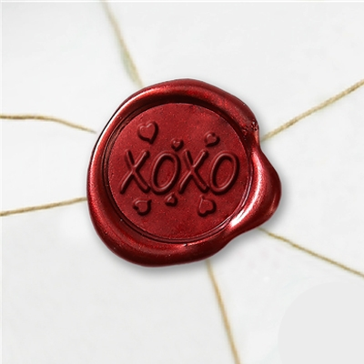 XOXO Wax Seal Stickers-50PK- 1""