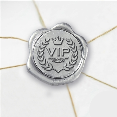 VIP Wax Seal Stickers-50PK- 1""