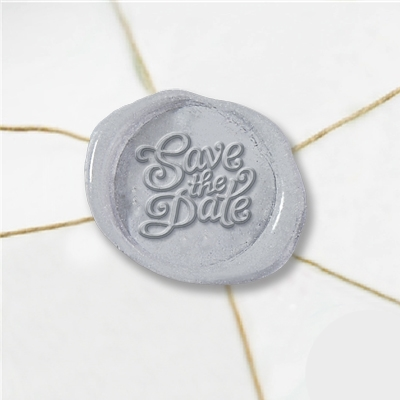 Save The Date Wax Seal Stickers-50PK- 1""
