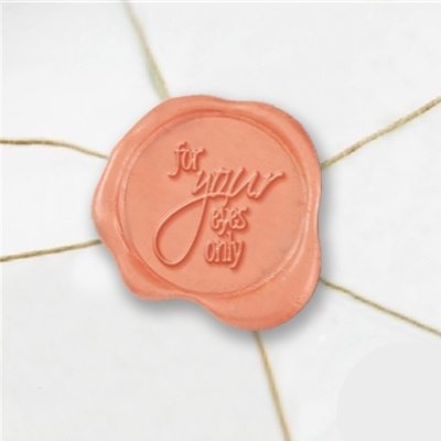 For Your Eyes Only Wax Seal Stickers-50PK- 1""