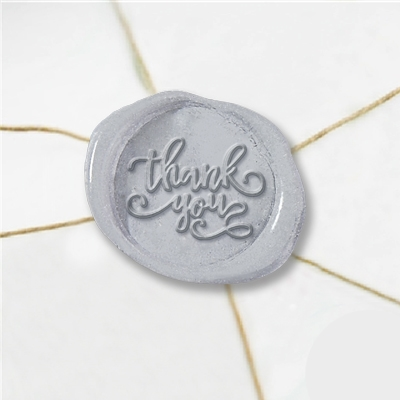 Thank You Wax Seal Stickers-50PK- 1""