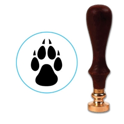 Wolf Paw Wax Seal Stamp # 1340
