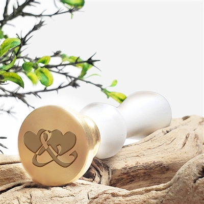 Double Heart Ampersand Wax Seal Stamp # 1380