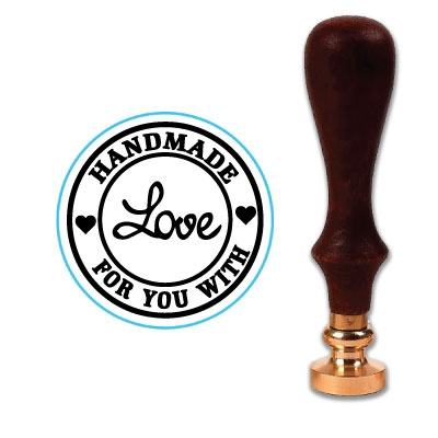 Handmade With Love Wax Seal Stamp # 1389