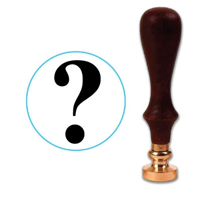 Question Mark Wax Seal Stamp # 2603B