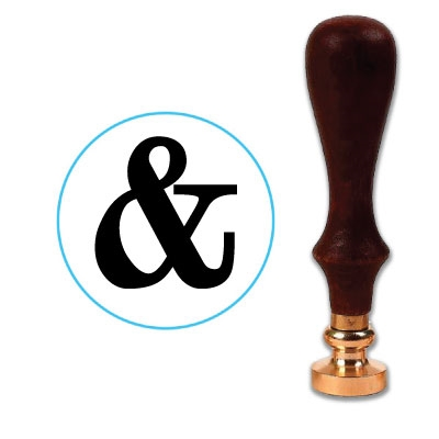 Ampersand Wax Seal Stamp # 2606