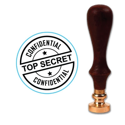 "Top Secret - Confidential Wax Seal Stamp # 314-1"" Die"