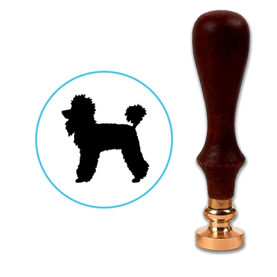 Dog - Poodle Wax Seal Stamp # 3225