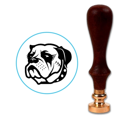 Dog - Bulldog Wax Seal Stamp # 3227