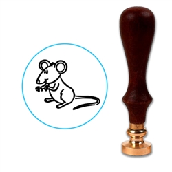Cute Mouse Wax Seal Stamp # 3358