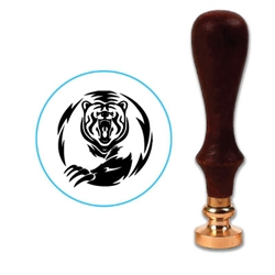 Grizzly Bear 2 Wax Seal Stamp # 3411