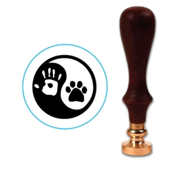 Ying Yang Paw Wax Seal Stamp # 3415