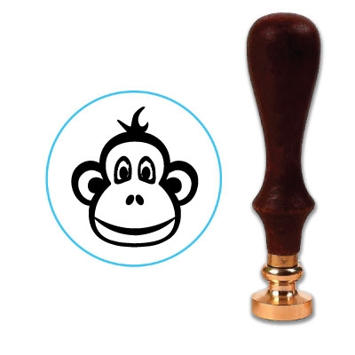 Monkey Face Wax Seal Stamp # 3417