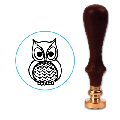 Owl 2 Wax Seal Stamp # 3501